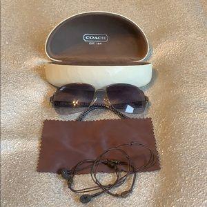 Coach Aviator Sunglasses Savanah S584 w/case